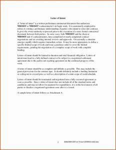 Subcontractor Letter Of Intent Template - Letter Intent to Hire Template Gallery
