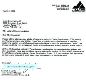 Subcontractor Letter Of Intent Template - Letter Of Intent Template Construction