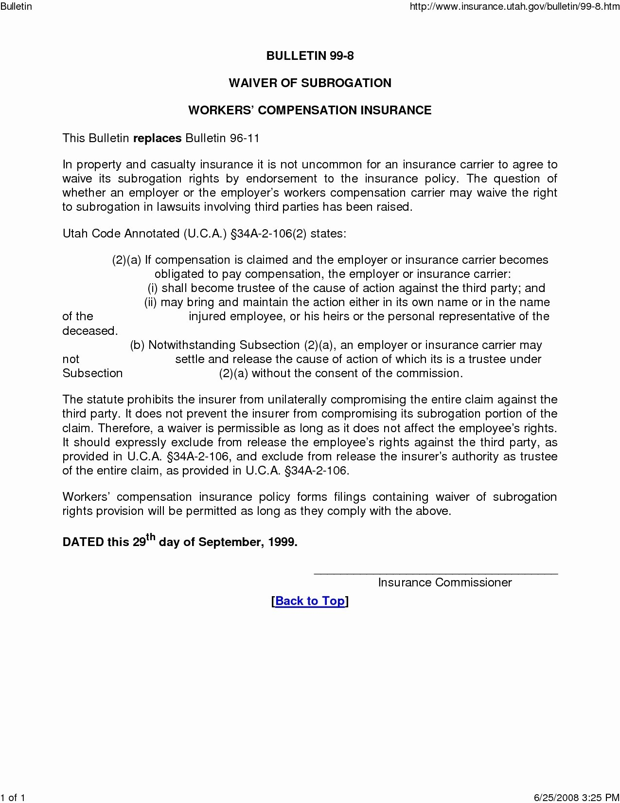 subrogation demand letter template Collection-Subrogation Demand Letter Template Collection 1-h
