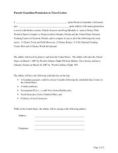 Sunday School Letter to Parents Template - Parental Consent Permission Letter Sample