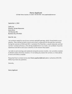 Take Your Child to Work Day Letter for School Template - Summer Job Cover Letter Examples
