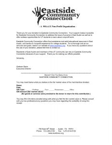 Tax Deductible Donation Letter Template - Donation Letter Template for Non Profit organization Collection