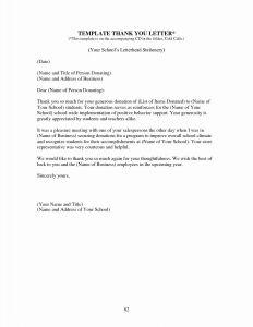 Teacher Appreciation Letter Template - Fundraiser Thank You Letter Template 2018 Professional Thank You