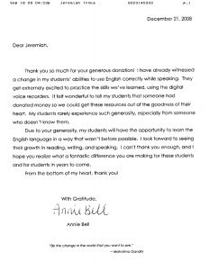 Teacher Appreciation Letter Template From Student - Thank You Letter to Teacher From Student