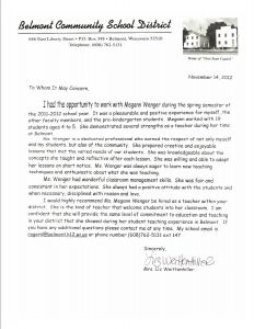 Teaching Letter Of Recommendation Template - Reference Letter Kindergarten Student Fius