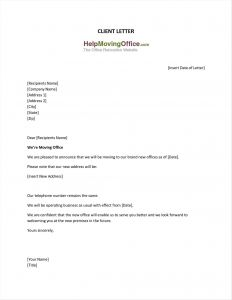 Template Change Of Ownership Letter - Change Address Letter Template Examples