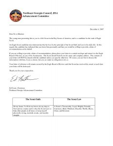 Template for A Letter Of Recommendation - Eagle Scout Letter Of Re Mendation Requirements Ukran Poomar