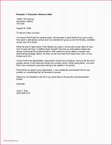 Template for A Letter Of Recommendation - Personal Letter Re Mendation Basic Letter Re Mendation Free
