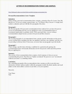 Template for A Recommendation Letter - Sample Re Mendation Letter for Employee From Manager