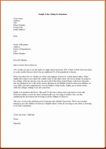 Template for Donation Request Letter - How to Write A Letter asking for Donations Template Download