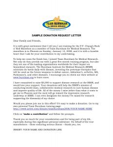 Template for Donation Request Letter - Donation Request Letter Template for Food
