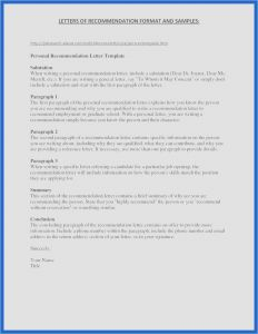 Template for Letter Of Recommendation for A Job - 29 New Re Mendation Letter format Simple