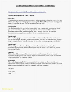 Template for Letter Of Recommendation for A Job - Template Letter Re Mendation Job Valid Letter Re Mendation