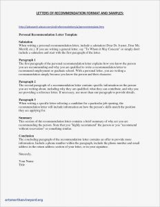 Template for Letter Of Recommendation for A Job - Professional Reference Letter Template Free Download