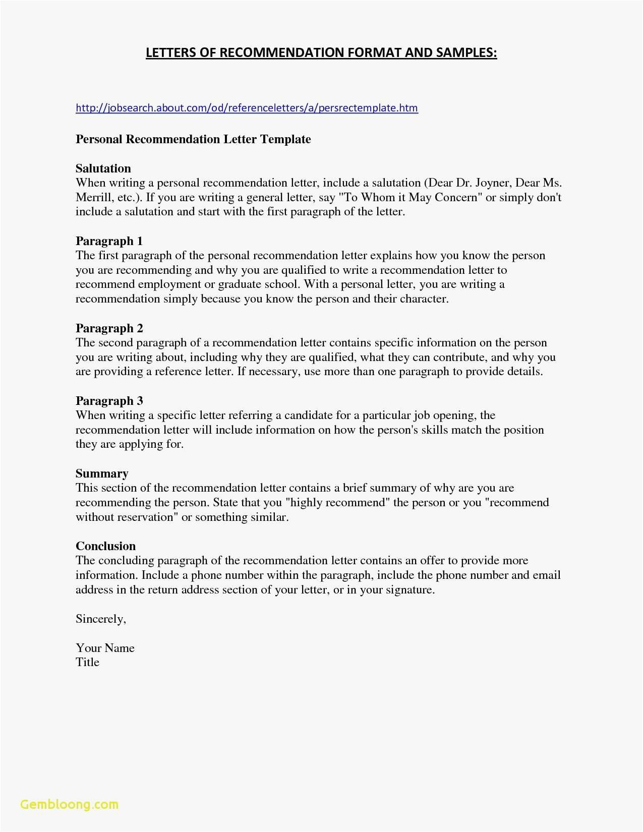 template for letter of recommendation for a job Collection-Template Letter Re mendation Job Valid Letter Re Mendation Template For Employee Model Tenure Re 11-m