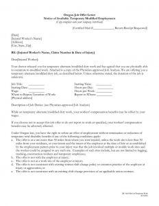 Template for Offer Letter - Sample Employee Fer Letter Template Sample