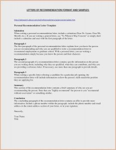 Template for Recommendation Letter - Employment Verification Letter Template Collection