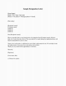 Template for Retirement Letter - 26 Best Sample Resignation Letters Professional