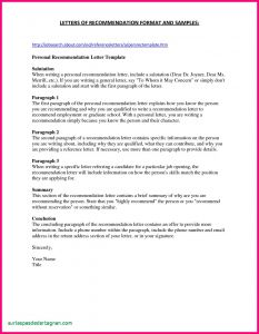 Template Letter Of Recommendation - Sample Letter Re Mendation Template Free Samples