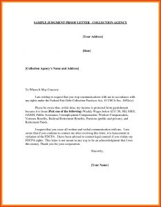Template Letter to Stop Creditor Harassment - Debt Harassment Template Letter Examples