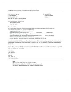 Template Letter to Stop Creditor Harassment - Cease and Desist Letter to Collection Agency Example