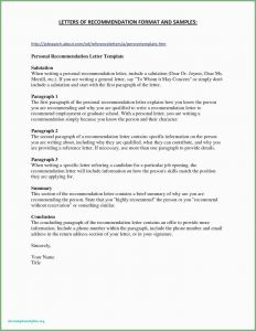 Template Of Letter Of Recommendation - Proper Letter format with Re Example Letter Re Mendation for