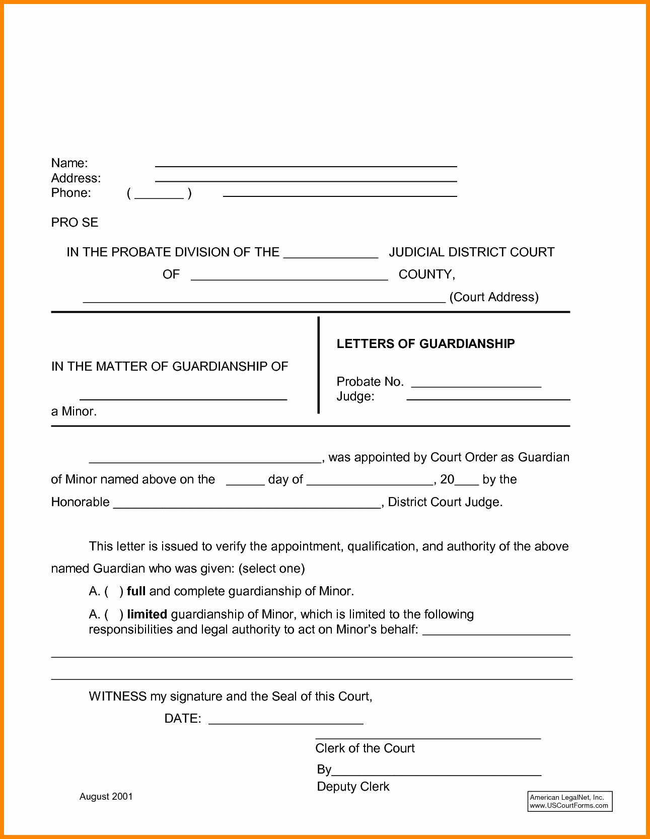 temporary custody letter template Collection-temporary custody letter template 3-i