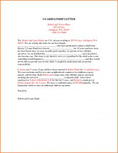 Temporary Guardianship Letter Template - Free Guardianship Letter Template Collection