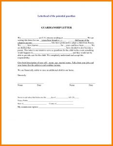 Temporary Guardianship Letter Template - Temporary Guardianship Letter Luxury Temporary Guardianship Letter