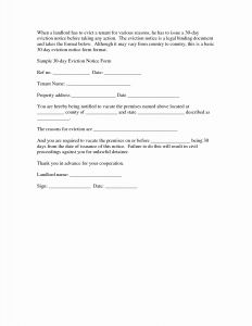 Tenant Eviction Letter Template - 32 Lovely How to Evict A Tenant without A Rental Agreement