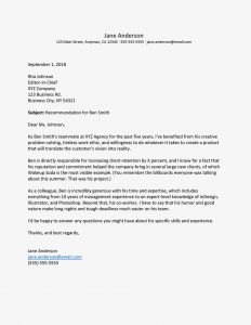 Tenant Recommendation Letter Template - How to Write A Letter Of Re Mendation for A Co Worker