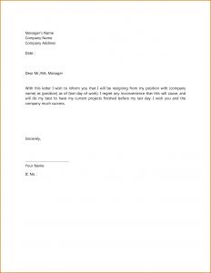 Termination Letter Template - Termination Letter Sample Singapore formal Resignation Cover Samples