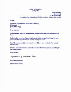 Thank You Donation Letter Template - Memorial Donation Letter Template Collection