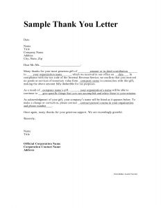 Thank You Letter for Donation Template - Personal Thank You Letter Personal Thank You Letter Samples