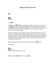 Thank You Letter Template Donation - Thank You for Your Donation Letter Template Sample