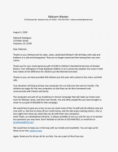 Thank You Letter Template Donation - Thank You Letters Donors Will Love