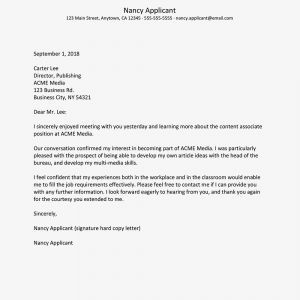 Thank You Letter Template for Elementary Students - Job Interview Thank You Letter Sample