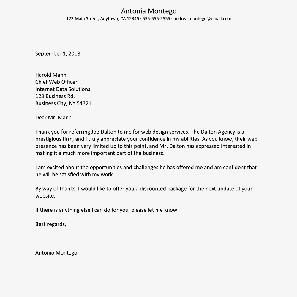 9 thank you letter to referring physician template