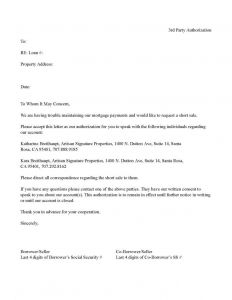 Third Party Authorization Letter Template - Third Party Authorization Letter Bank