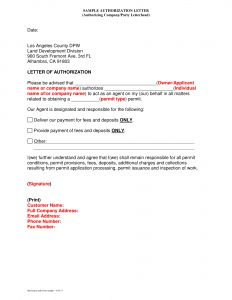 Third Party Authorization Letter Template - 9 Authorization Letter to Claim Examples