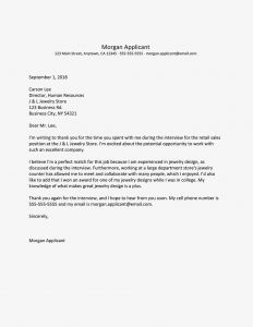 Time Of the Essence Template Letter - Job Interview Thank You Letter Template