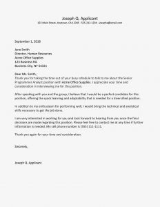 Time Of the Essence Template Letter - Sample Job Interview Follow Up Letter Email
