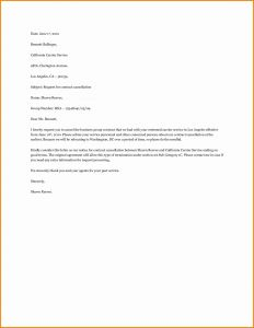Timeshare Cancellation Letter Template - Cancellation Of Contract Letter Sample