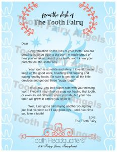 Tooth Fairy Letter Template Boy - Iou Letter From the tooth Fairy