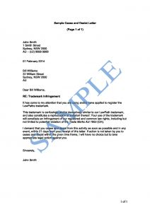 Trademark Cease and Desist Letter Template - Trademark Cease and Desist Letter Template Samples