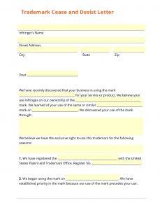 Trademark Cease and Desist Letter Template - Free Cease and Desist Letter Make Your Free Cease and Desist Letter
