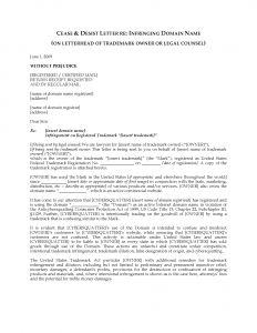 Trademark Cease and Desist Letter Template - Cease and Desist Letter Trademark Infringement Template Examples