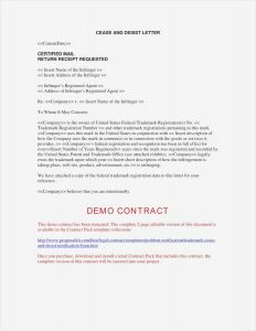 Trademark Cease and Desist Letter Template - Response to Cease and Desist Letter Template Sample