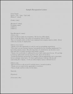 Transition Letter Template - Two Week Resignation Letter Template New Cover Sample Docx How to