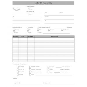 Transmittal Letter Template Word - Transmittal form Template Word Zaxa